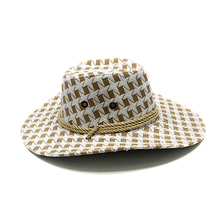 Brand new Unisex Cowboy hat Leather Big Along cap Spring and summer Sun protection visor Travel fishing