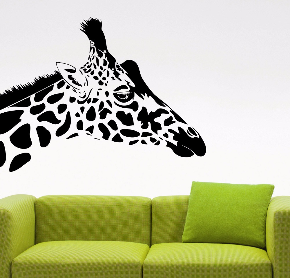 Verzauberkunst Wall Tattoo Das Beste Von Giraffe Head Sticker Animal Vinyl Decal Living