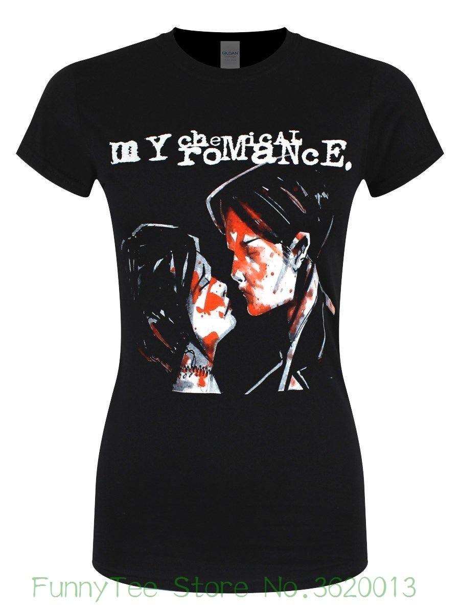 Women's Tee My Chemical Romance Three Cheers Women's Black T-shirt Hot Elling T Shirt For Woman
