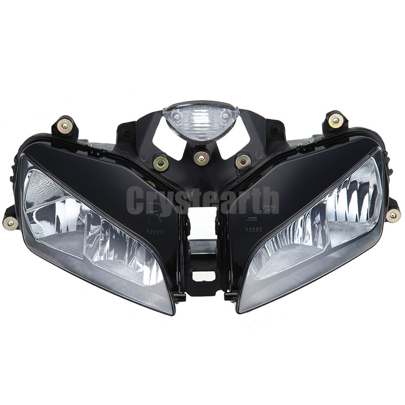 Motorcycle Front Headlight Assembly Kit For Honda CBR600RR CBR 600 RR 2003 2004 2005 2006 Motorbike Headlamp Lighting Lamp front headlight headlamp head light lamp upper stay bracket fairing cowling for honda cbr600rr cbr 600 rr 2003 2004 2005 2006