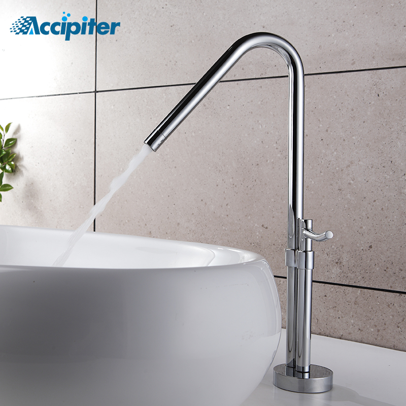 New Design Tall Basin Faucet Sink Mixer Tap 360 Degree Swivel Deck Mounted Single Handle One Hole Basin Tap Bathroom Faucet archpole cтол oldwood staple