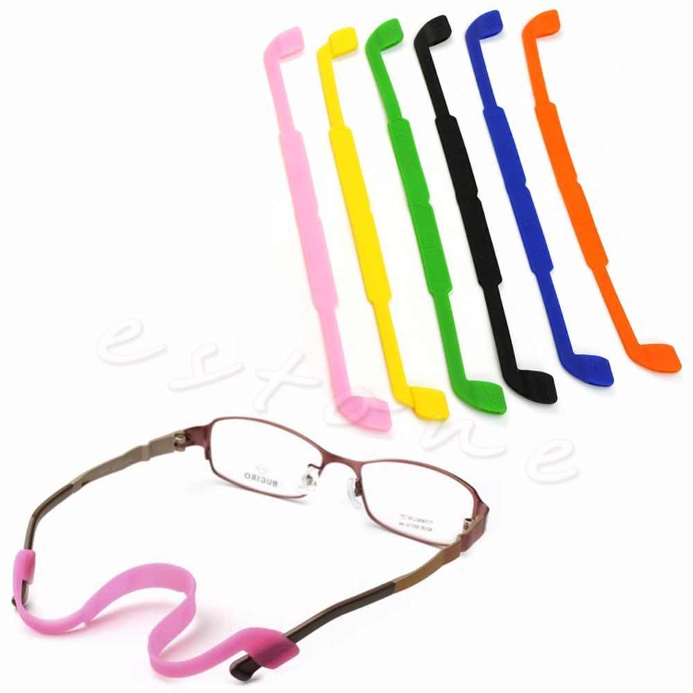 2dcf314d8ee Silicone Eyeglasses Glasses Sunglasses Strap Sports Band Cord eyeglasses  eyewear lanyard holder For Kids