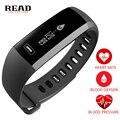 Read r5 pro elegante banda de frecuencia cardiaca oxímetro de oxígeno de presión arterial de muñeca deporte reloj pulsera inteligente para ios android negro