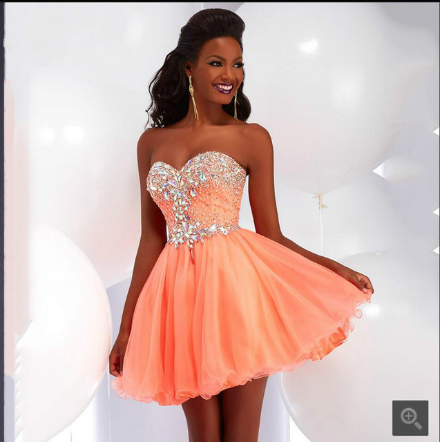 Special Occassion African Girls short prom Dress with Sparkly ...