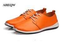AREQW 2017 Autumn And Winter New Men S Single Skin Ultra Pure White Leather Shoes Casual