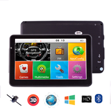 7 Inch Car GPS navigation Bluetooth 800Mhz 8GB/256MB Full Europe/USA/ Russia navitel High Definition Vehicle gps av-in