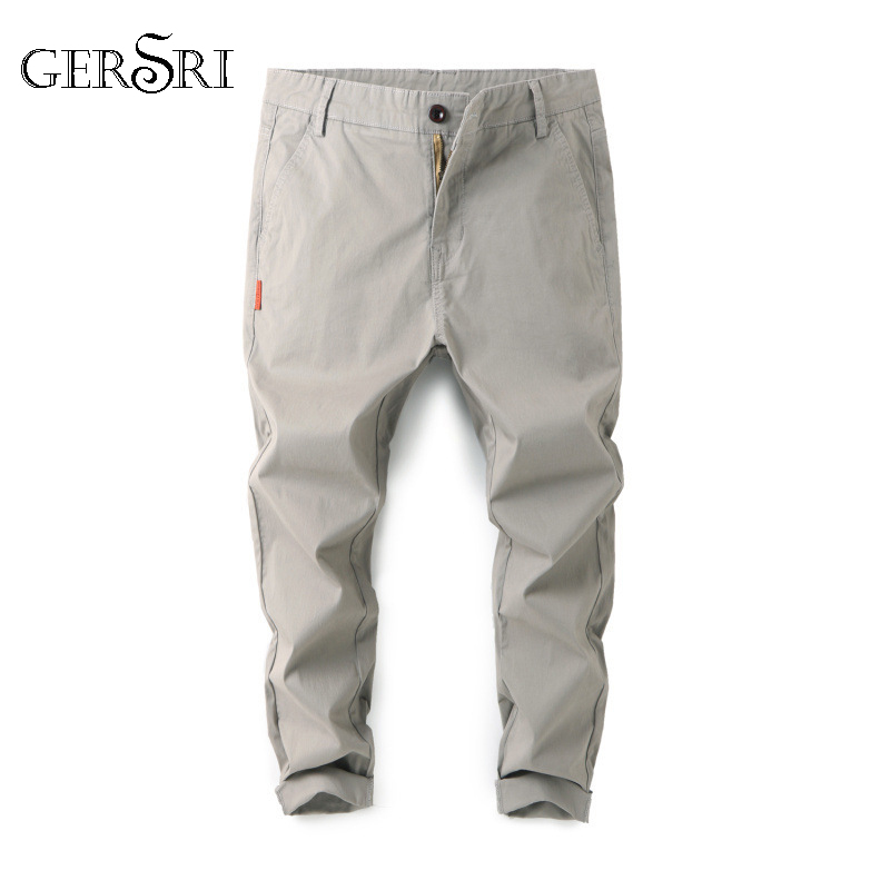Gersri Trousers Pencil-Pants Slacks Plus-Size Casual Brand Ninth Loose Men Personality