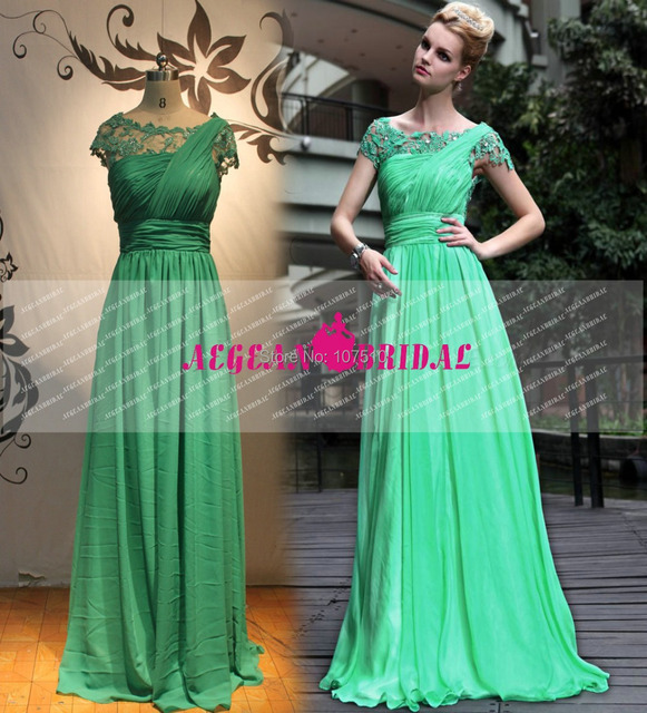 024b10341e RE72 Real Sexy Mermaid Beads Short Sleeve Prom Gown Birthday Party Long  Green Lace vestido longo