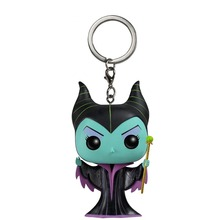 Maleficent Action Figures Children Toy Keychain With Retail Box