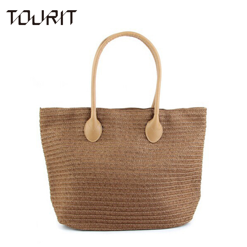 2016 New Fashion Straw Bag Large Capacity Women's Handbag Handmade Woven Bag One Shoulder Casual Beach Bags [zob] supply of new original omron safety door switch d4bs 35fs d4ns 4af substitute 2pcs lot