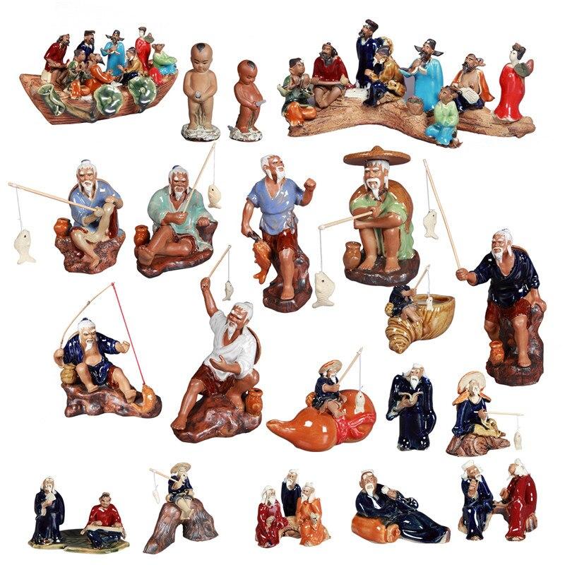 Украшения для дома, поделки, миниатюры, керамика, Винтаж, китайский рыбак, рокерные аксессуары, аквариум, украшение аквариума