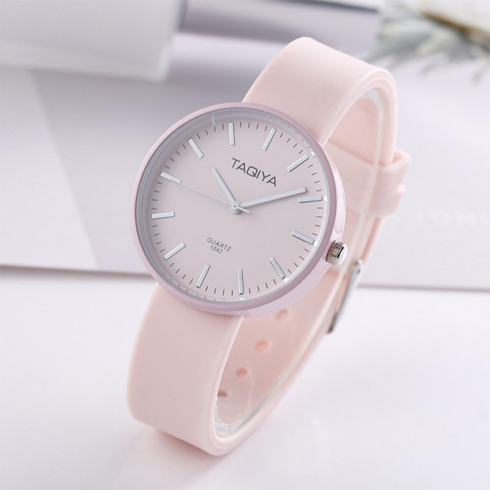 5 Colour Simple Style Silicone Watch Fashsion Women Watches Quartz Wristwatch Clock For  Ladies Female Students Cool