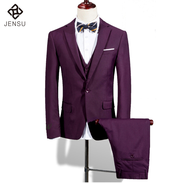 2016 Nova Men Casamento Ternos Jacket + Vest + Calças dos homens Vestido de Smoking Do Noivo Personalizado Moda Casual Slim Fit Lapela entalhado Blazers Masculinos
