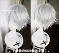 30CM High Quality Heat Resistant Nakigitsune Wig Touken Ranbu Online Cosplay Wigs Silver White Synthetic Hair Full Lace Wig