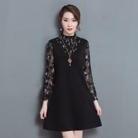 2017 New Spring Large Size Women Dresses Korean Style Lotus Leaf Fashion Dress Elegant Casual Loose