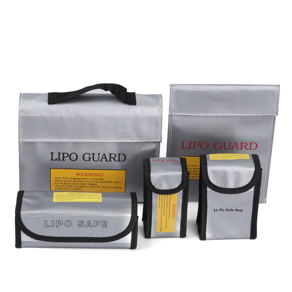RC LiPo Battery Covers Safety Bag Safe Guard Charge Fireproof Sack Silver Safe