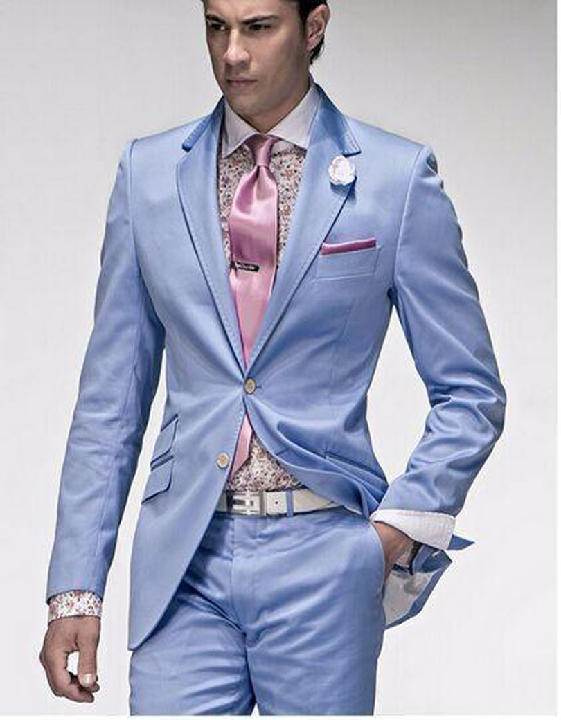 High Quality Mens Light Blue Suit Jacket-Buy Cheap Mens Light Blue ...