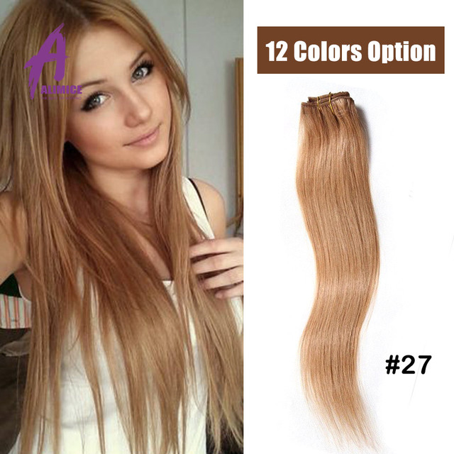7pc Clip In Human Hair Extensions 70g Brazilian Virgin Hair Clip In