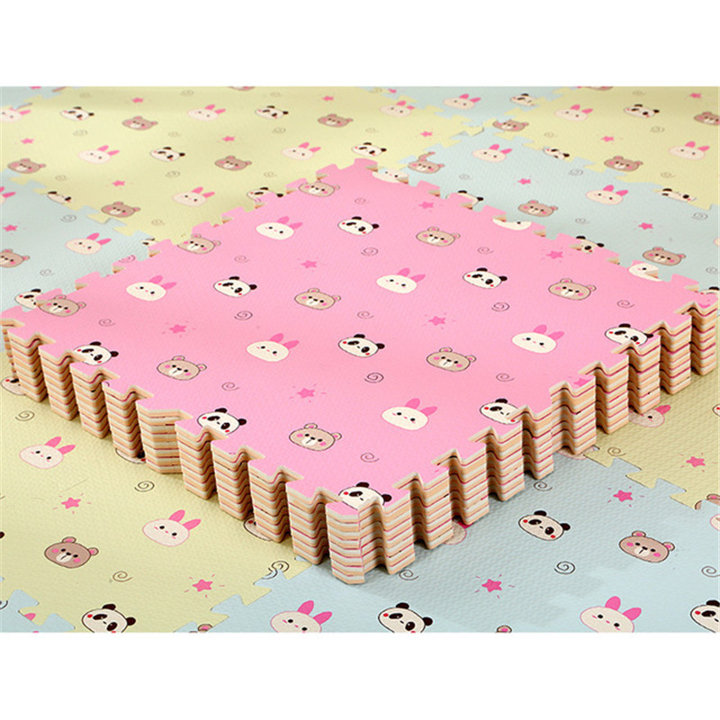 HTB1OLyCaBCw3KVjSZFuq6AAOpXah EVA Foam Children's Mat Split Joint Baby Play Mat Puzzle Cartoon Panda Patterns Soft Floor Carpet For Baby Crawling Exercise
