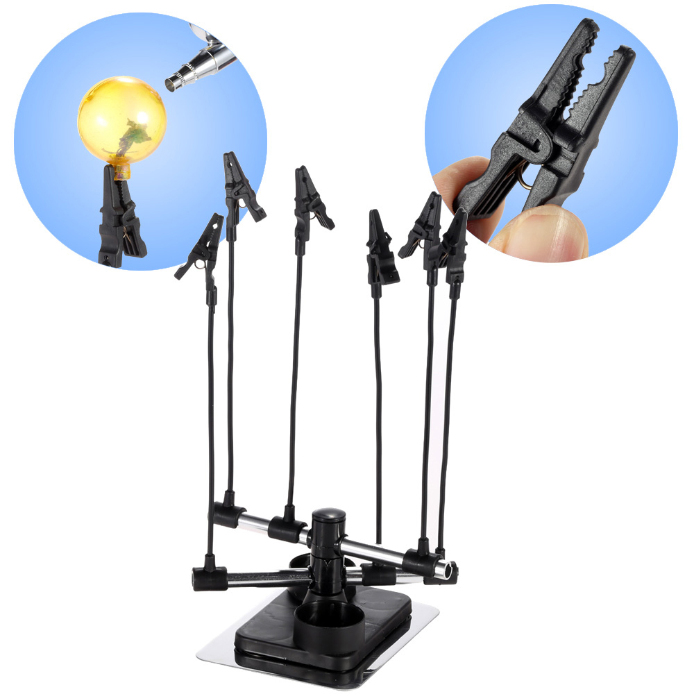 Airbrush Hobby Model Part Holder Six Alligator Clip Stand Spray Gun Parts Holders Auto Painting Booth Airbrush Tool AccessoriesAirbrush Hobby Model Part Holder Six Alligator Clip Stand Spray Gun Parts Holders Auto Painting Booth Airbrush Tool Accessories