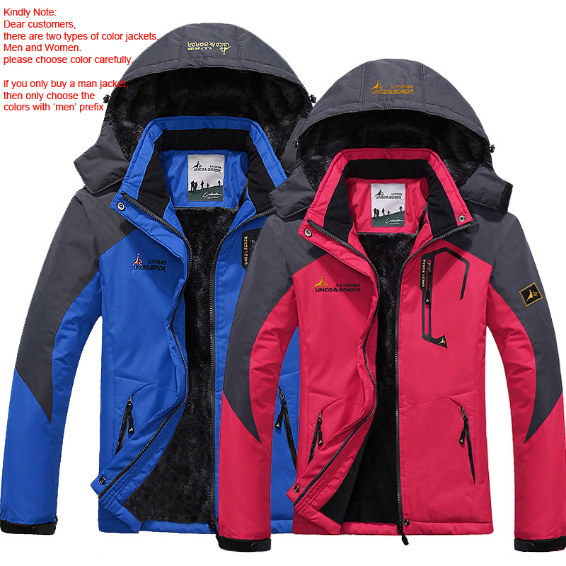 Men s Winter Waterproof Jacket Women Windbreaker Softshell Rain Fleece Outdoor Warm Coat Hiking Camping Trekking