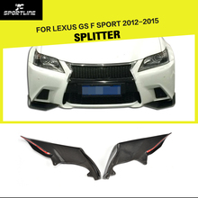Car-Styling Carbon Fiber Front Bumper Splitter Kits Lip fit for Lexus GS F Sport 2012-2015