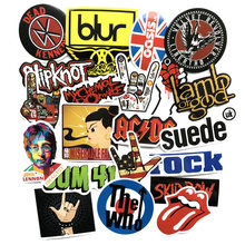 52 pièces Rock & Roll Autocollants Pour Ordinateur Portable Bagages Vélo Voiture Style Skateboard Moto Vinyle Autocollant Graffiti Punk Cool Autocollants(China)