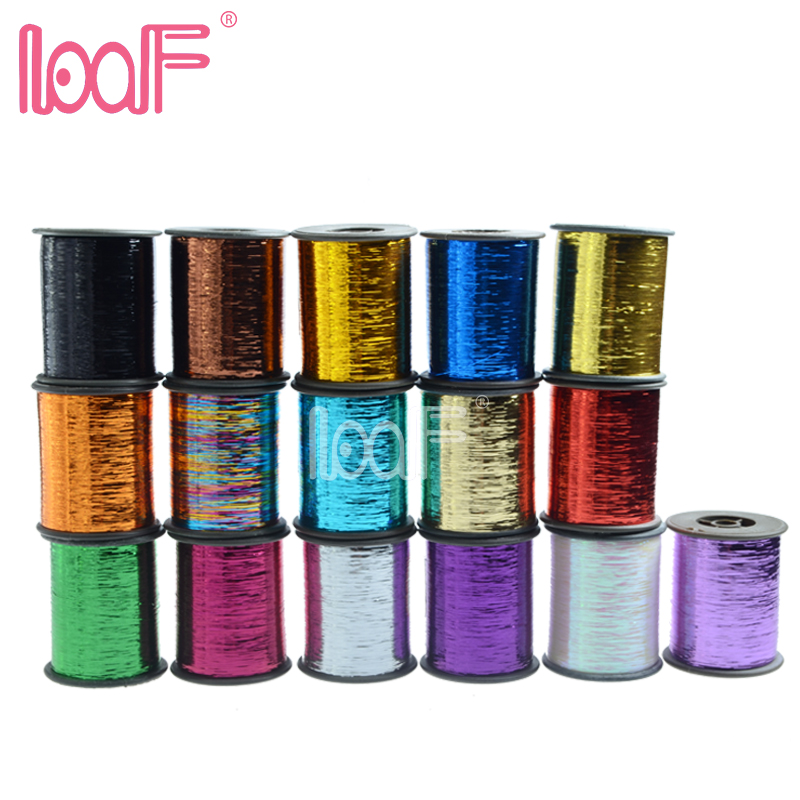 LOOF wholesale 10rolls Hot 16colors 2000m 78740 inch roll colors Tinsel synthetic hair for cosplay wigs