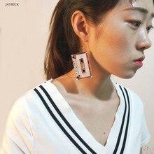 Women Earrings Retro Cassette Tape Dangle Cute Pretty Drop Earrings For Women Fashion Jewelry кардиган pretty women