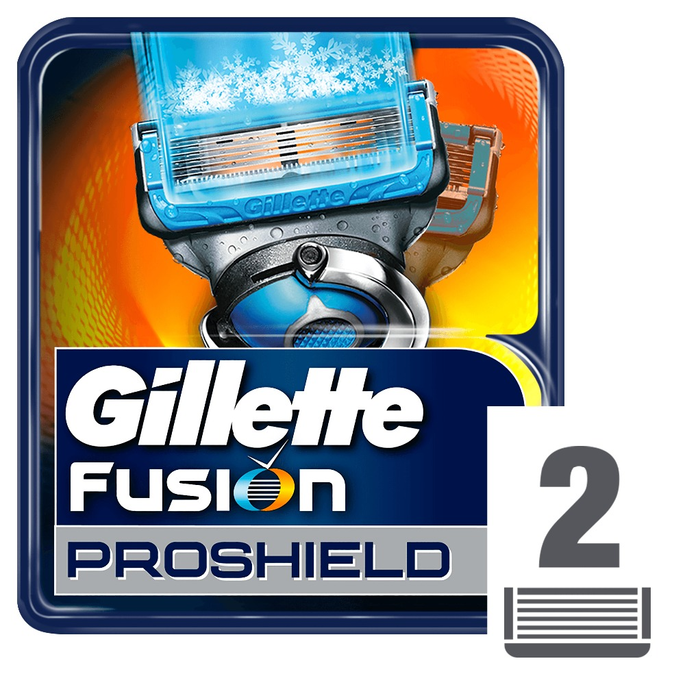 Removable Razor Blades for Men Gillette Fusion ProShield Chill Blade for Shaving 2 Replaceable Cassettes Fusion Cartridge gillette fusion proshield shaving razor blades for men beard removal brands safety razors shaver blade 1 handle 5 blades