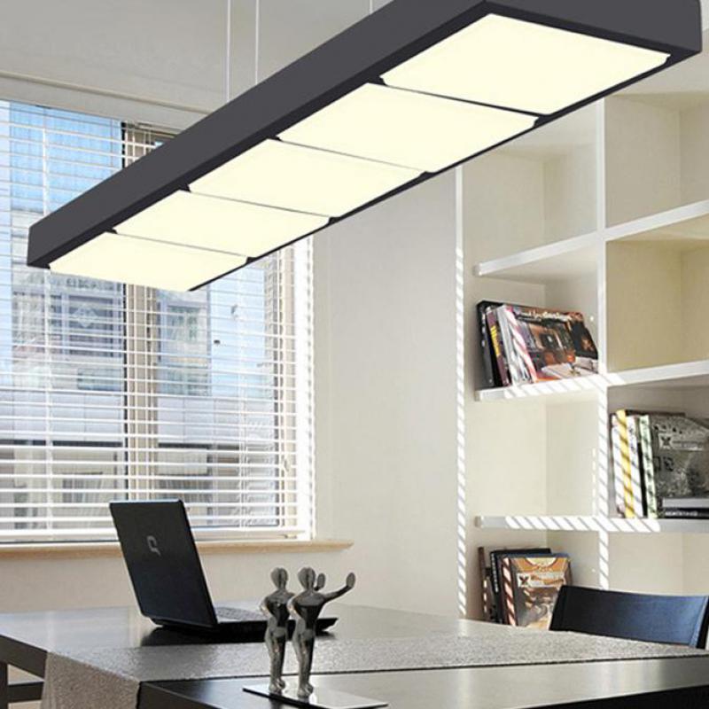 Commercial Led Office Lighting: Office Led Rectangular Pendant Lights Lustre Pendente
