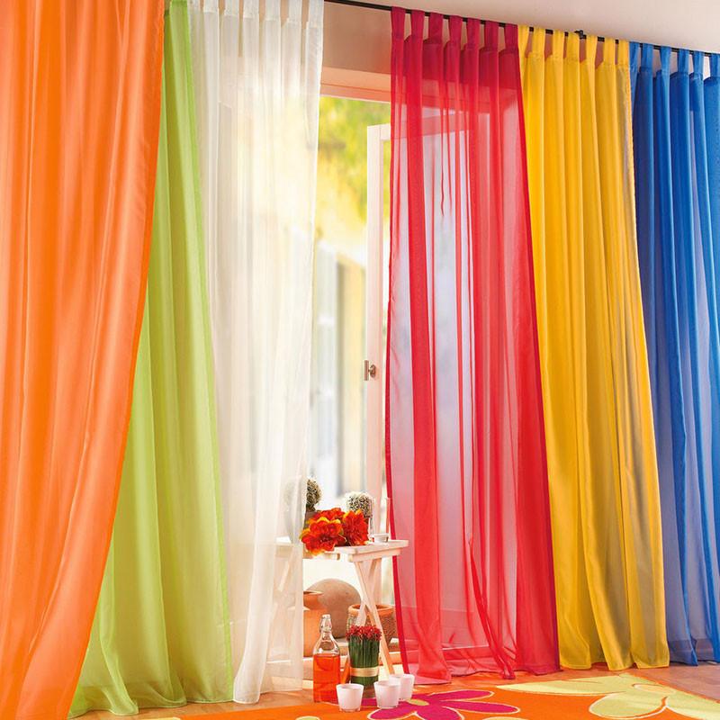 tulle rideau fini moustiquaire valance color arc en rideau pour la maison organza sheer - Maison Colore Rideaux