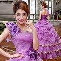 2017 púrpura barato quinceañera vestidos de un hombro cristales orgabza sweet 16 vestidos de bola vestidos de 15 anos