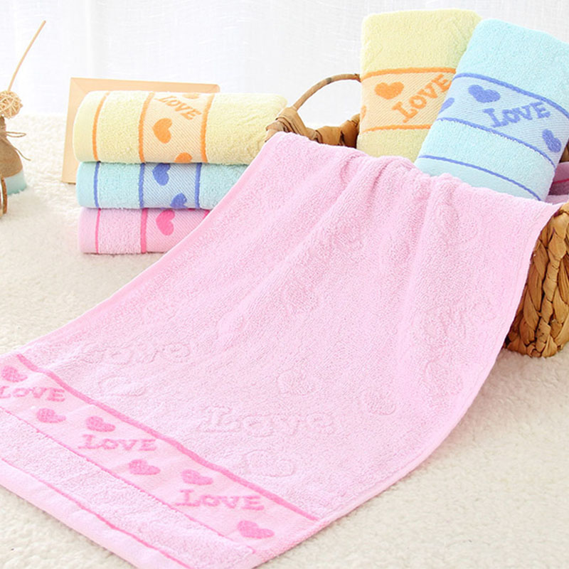 33*73cm Soft Cotton Towel Super Absorbent Towel Sport Towel Face Hand Hair Quick-drying Bath Beach Towel Bathroom Cleaning Cloth