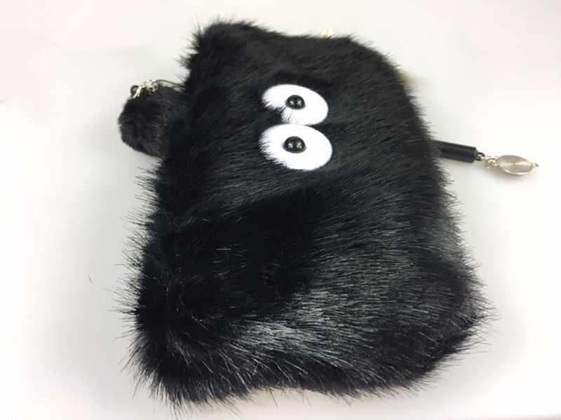 23 cm Fairydust Susuwatari Spirited Away Meu Vizinho Totoro Lovely Plush Stuffed Boneca Toy Keychain Saco de Moeda Capa Reversível