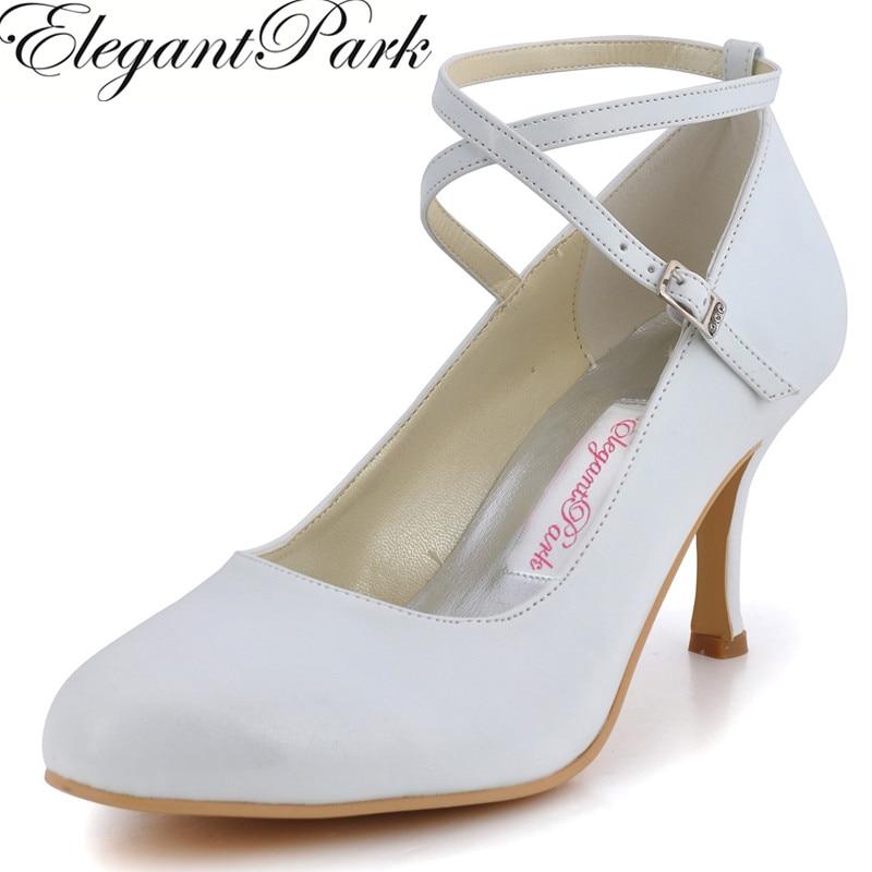 Fashion Woman Shoes EP31032  White Ivory  Round Toe PU  high  Heel  Cross Strap PU Women's Wedding Shoes Birdal Pumps anex 3 в 1 cross ivory
