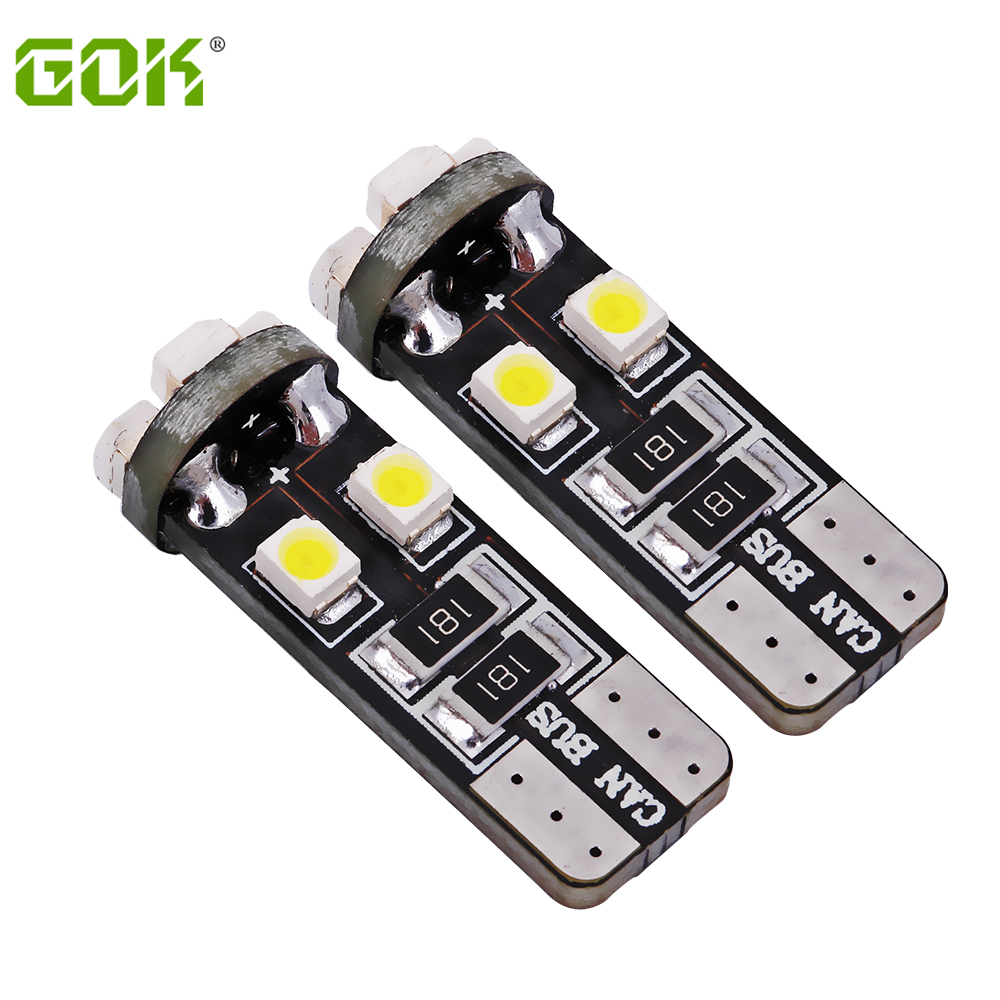 Free Shipping 500pcs No Obc Error T10 led canbus 194 168 w5w led canbus t10 8Smd