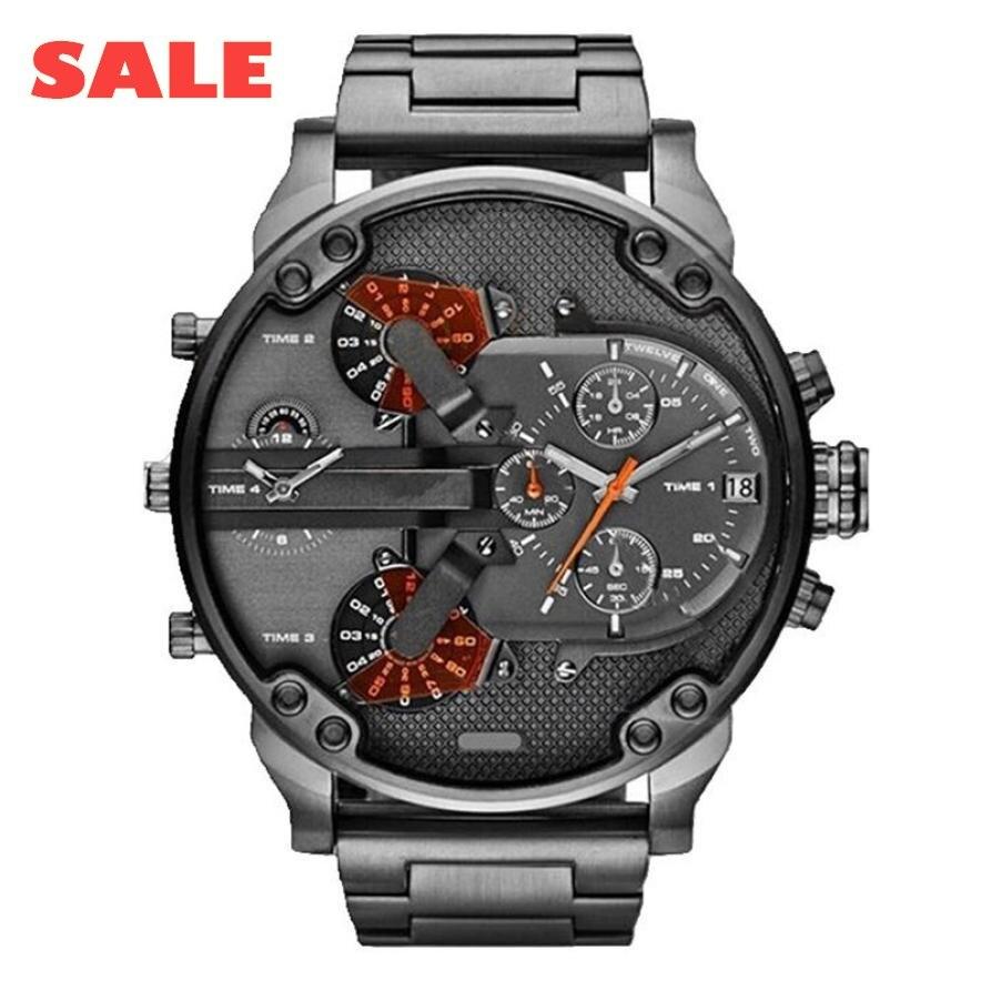 Las mejores marcas exquisitos productos calientes de moda para hombre reloj de lujo de acero inoxidable deportivo de cuarzo analógico para hombre reloj de pulsera saat reloj xfcs