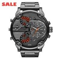 Top Merken Exquisite mannen Mode Luxe Zakelijke Horloge Rvs Sport Analoge Quartz Heren Horloge saat reloj xfcs