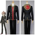 Danganronpa Makoto Naegi Uniform Black Top Hoodies Pants For Men Anime Halloween Cosplay Costumes Custom Made For Men Women