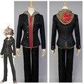 Danganronpa Makoto Naegi Uniforme Negro Top Sudaderas Pantalones Para Los Hombres Anime Cosplay Por Encargo de Halloween Para Hombres Mujeres