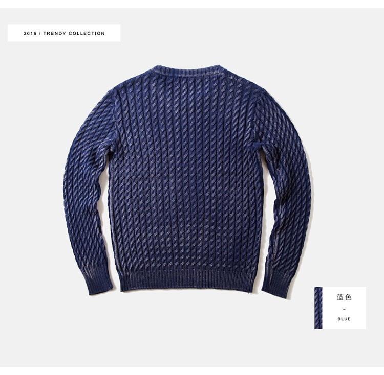 Aolamegs Men Sweater Fashion Casual Solid Color Knitting Pullover 2016 Autumn High Quality Simple Wild O-Neck Knitted Sweaters (15)