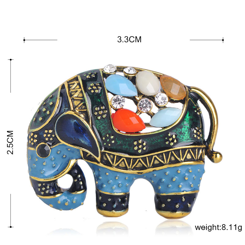 Colorful Elephant Brooch 1