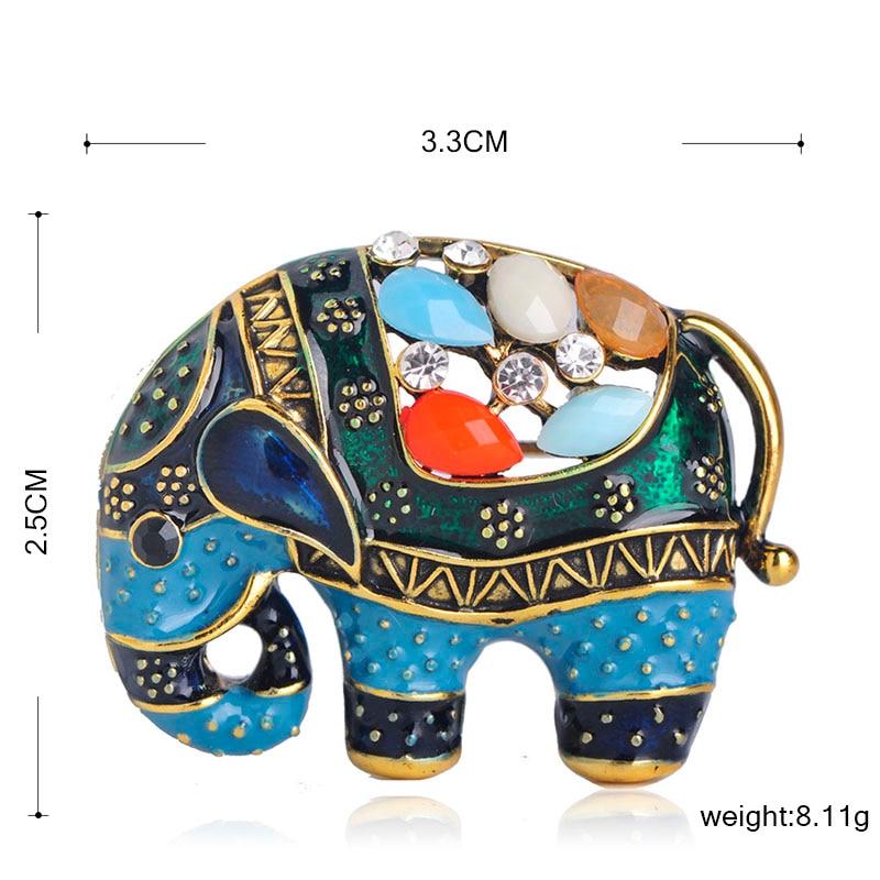 Colorful Elephant Brooch 1