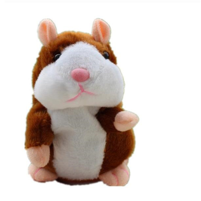 Talking Hamster Mouse donkey Pet Plush Toy Speak Talking Sound Record Hamster Educational Toy for Children Gift stuffed toy