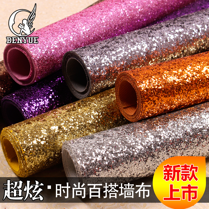 15 Farben Schwarz Weiss Silber Gold Lila Rosa Shiny Glanz Glitter Tapete Sparkly Wandpapierrolle Fr