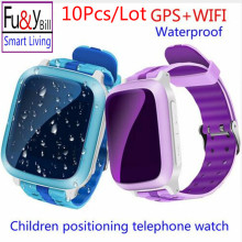 (10Pcs/Lot)Smart Phone GPS Watch Children Kid Wristwatch DS18 GSM GPS WiFi Locator Tracker Anti-Lost Smartwatch Child PK Q80 Q90