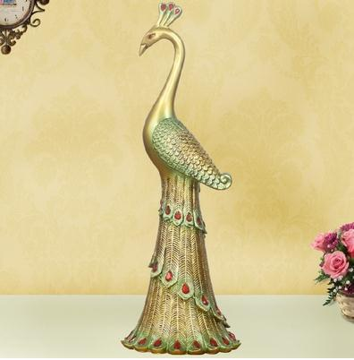 Statue de paon, artisanat d'oiseaux créatifs, décoration de la maison, cadeaux de mariage - 2