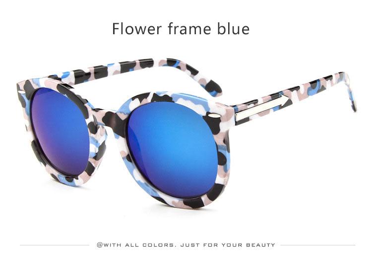 HTB1OM.dSXXXXXa5XXXXq6xXFXXXD - Marbling Sunglasses Women Round Frame PTC 268