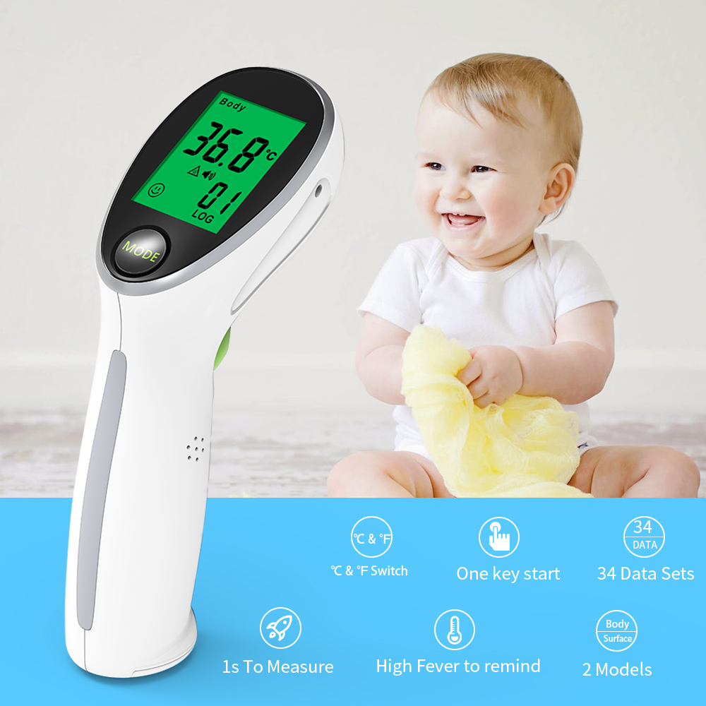 BOXYM Digital Infrared thermometer Portable termometro Non contact Laser Body Fever Temperature for Baby Adult in Ear Thermometer from Beauty Health